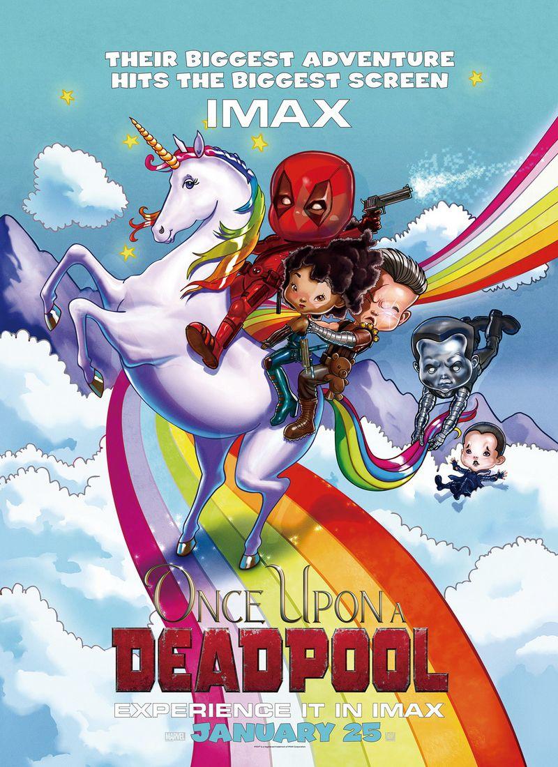 Memorabilia Imax Mini Poster And Foil Poster Once Upon A Deadpool Imax Mini Poster Poster Hub
